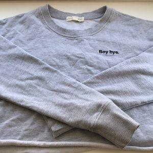 Long Sleeve Crop Sweatshirt